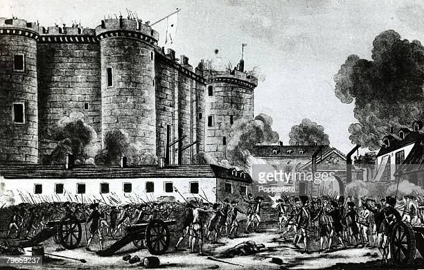 War and Conflict Illustration The French Revolution 14th July 1789 The storming of the Bastille