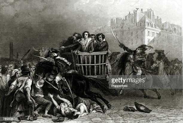 War and Conflict IllustrationThe French Revolution pic circa 1792 This illustration is entitled 'Last victims of the reign of terror'