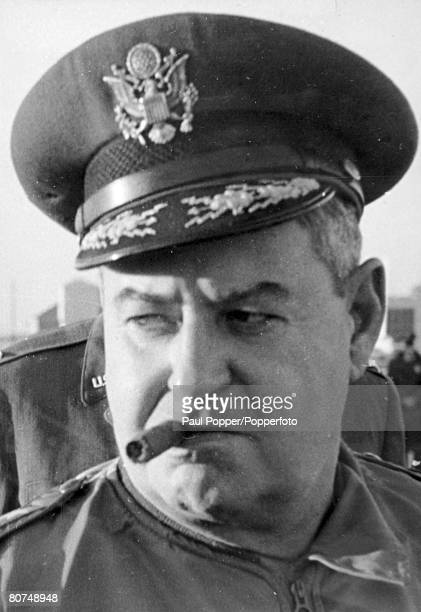 circa 1950's American General Curtis LeMay who during World War Two directed the US Air Force fire bombing campaign against Japanese cities and the...