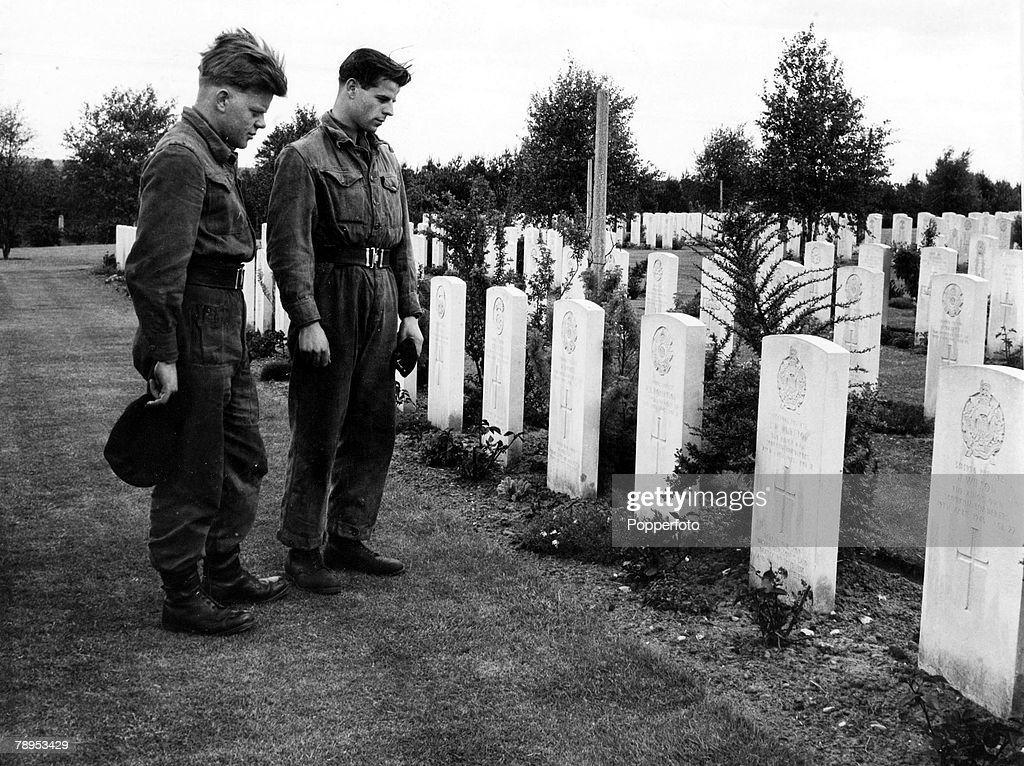 War and Conflict, Post World War Two, Germany, pic: June 1957, One of the British Military cemetries in Germany, close to Hamburg, where some 2550 officers and men of the British Army are buried