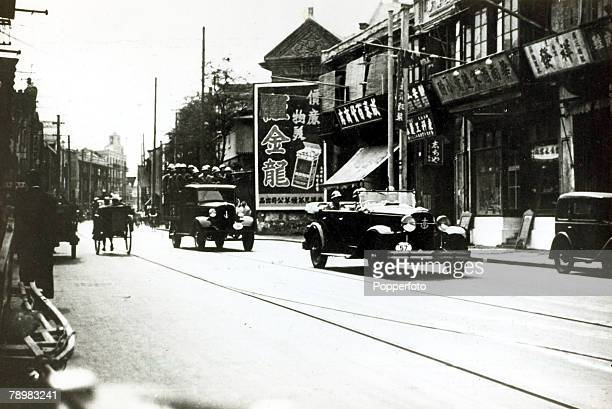 War and Conflict SinoJapanese War pic 1936 A high Japanese office of the Japanese Naval landing party of Shanghai rides through the streets followed...