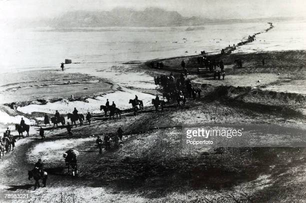 War and Conflict SinoJapanese War pic 25th January 1895 The landing of Japanese troops and advance of the senior command of the 2nd Army to YungChing...