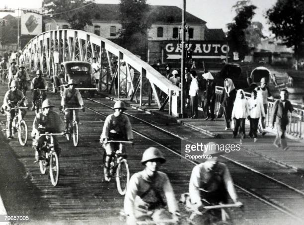 War and Conflict SinoJapanese War/World War II pic 15th September 1941 Japanese bicycle troops among the first to enter French IndoChina in Japan's...