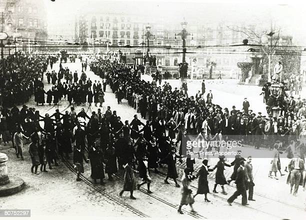 War and Conflict Spain Pre Spanish Civil War pic 22nd January 1932 A great demonstration of Communist men and women in Bilbao With what started as a...