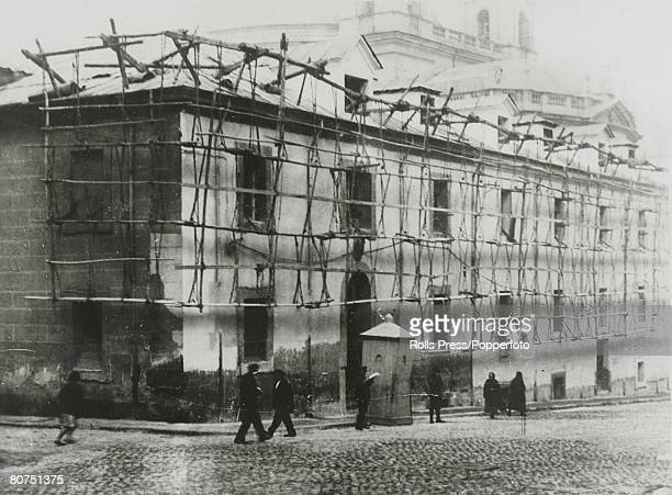 War and Conflict Spain Pre Spanish Civil War pic 28th November1930 The chapel of the prison showing the scaffolding down which Major Franco escaped...