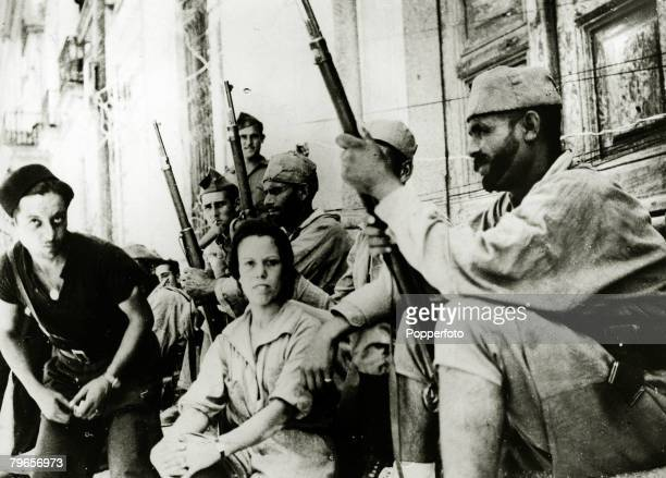 War and Conflict Spanish Civil War pic 13th August 1937 17 year old Anita Royo from Morocco the only woman fighting with the rebel forces on the...