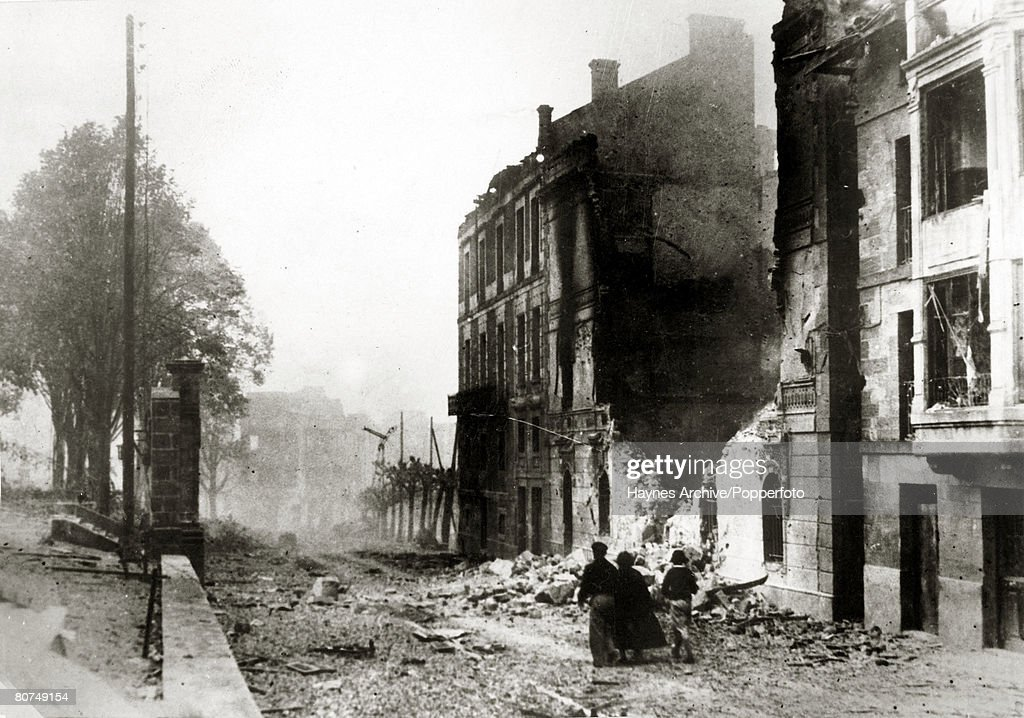 War and Conflict, Spanish Civil War (1936-1939), pic: 30th April 1937, A scene of devastation in Guernica after an aerial bombardment by German and Italian planes which caused great loss of life, With what started as a military uprising in Morocco, headed by General Franco, the fighting spread rapidly to start the Spanish Civil War, Outside support was provided by the International Brigade who helped the Republican cause and by Germany and Italy both allied to the Nationalists, Once Government resistance was exhausted, many of their people fled to France and the Nationalists entered Madrid on 28th March 1939 with General Franco then being able to call an end to the war