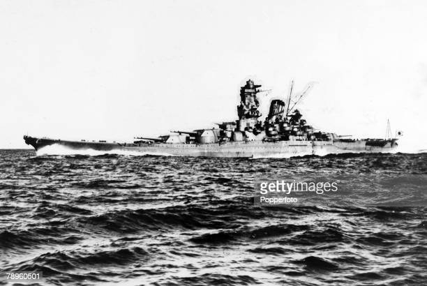 circa 1944 The Japanese battleship 'Yamamoto' which was sunk by US carrier borne planes in 1945 while on a suicide mission to Okinawa