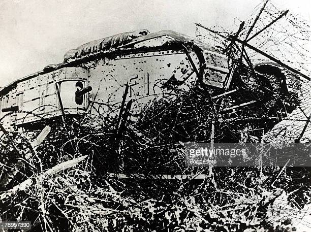 War and Conflict World War I 19141918 British Military France A British Mark IV tank in action The tank invented by the British first proved it's...