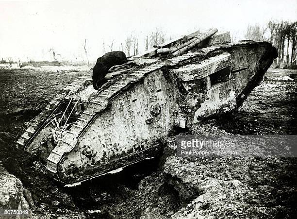War and Conflict World War I 19141918 British Military France pic April 1917 A British tank in action The tank invented by the British first proved...