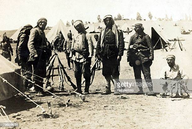 War and Conflict World War I 19141918 Turkish Military Turkish troops at an encampment in Palestine