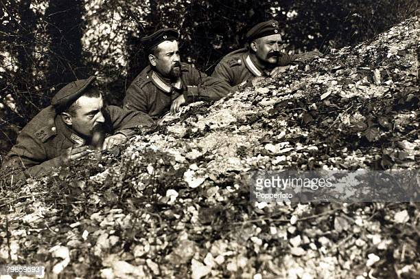 War and Conflict World War I Battle of Verdun Men of the German 31st Infantry Regiment on patrol duty in the woods