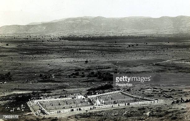 War and Conflict World War I Cemeteries pic circa 1930's The World War I cemetery at Doiran on the battlefield that raged around Salonika the burial...