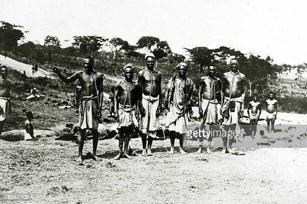 War and Conflict World War I East Africa pic circa 1916 Natives from East Africa in chains after coming under British protection during the British...