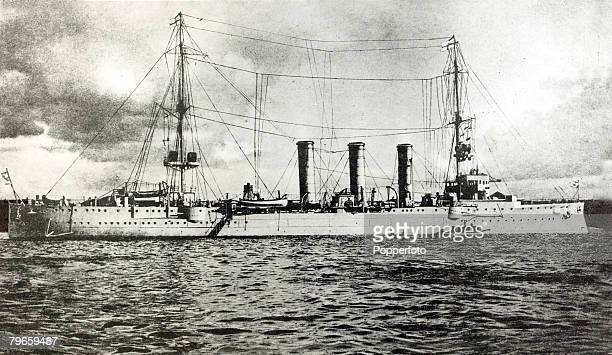 War and Conflict World War I pic circa 1914 The German ship ' Emden' which was used as a commerce raider in the Indian Ocean sinking numerous Allied...