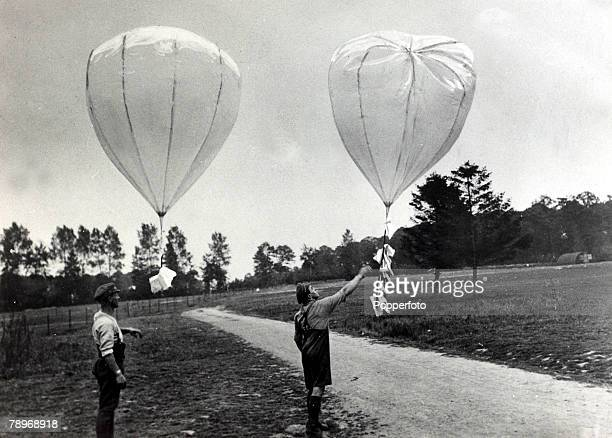 War and Conflict World War I Propaganda The release of 2 balloons with their consignment of propaganda leaflets for French and Belgium civilians...