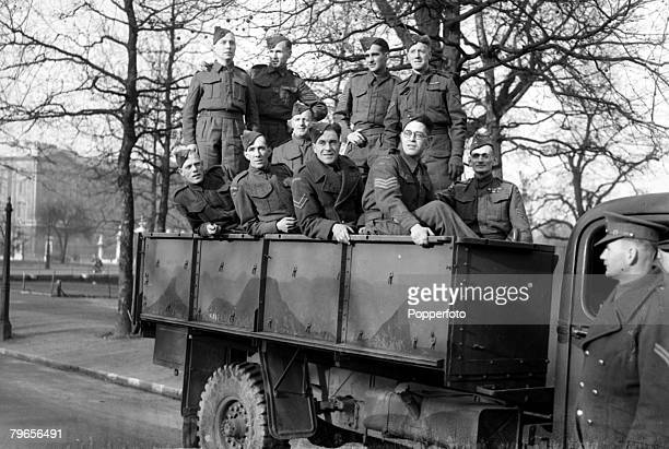 2nd December 1944 Members of the Home Guard pictured in London