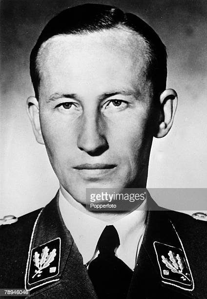 circa 1940 Reinhard Heydrich German Nazi Chief of the Security Police the SD and SS who was killed by Czech assasins