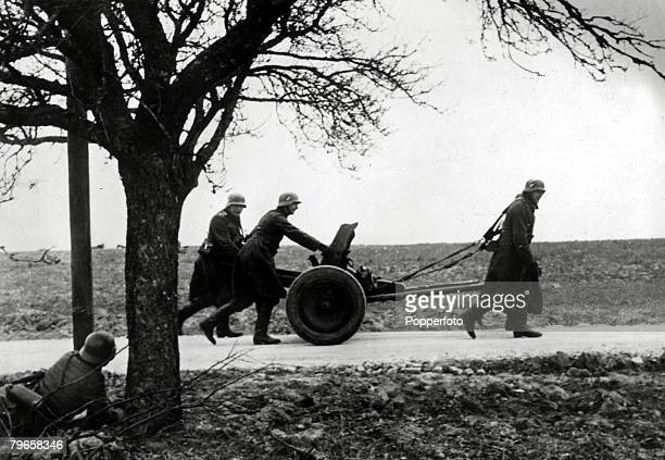 May 1940 German soldiers bring up an antitank gun during the invasion of Belgium Germany invaded Belgium Holland and Luxembourg in May 1940 claiming...