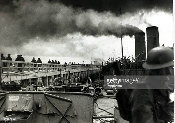 May/June 1940 The Battle of Dunkirk British troops marching along the pier to the rescue vessels The Battle of Dunkirk which took place approx 25th...