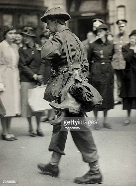 May/June 1940 The Battle of Dunkirk A British soldier at a London railway station having been evacuated from Dunkirk The Battle of Dunkirk which took...