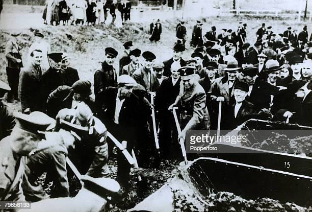 War and Conflict World War II pic September 1939 Gauleiter Albert Foerster the Nazi leader of Danzig having dug the first spadeful of earth to...