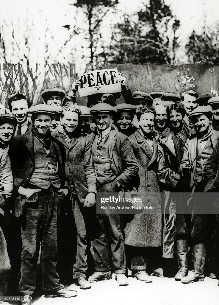 April 1917, British Conscientious Objectors at a peace demonstration at Dartmoor, Devon.