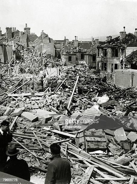 War and Conflict World War Two Air Raids pic December 1940 Great Britain Extensive damage to houses in Bath England caused by German bombing