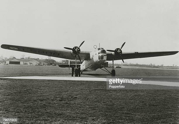 War and Conflict World War Two Aviation pic circa1940 An RAF Bristol 'Bombay' twin engined bombertransport which only worked as a bomber in the safer...