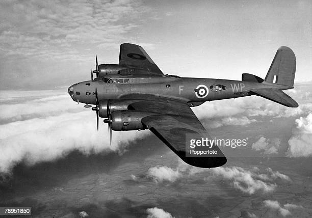 War and Conflict World War Two Aviation pic circa 1945 A Boeing B17 Flying Fortress the one pictured with British markings The Flying Fortress first...