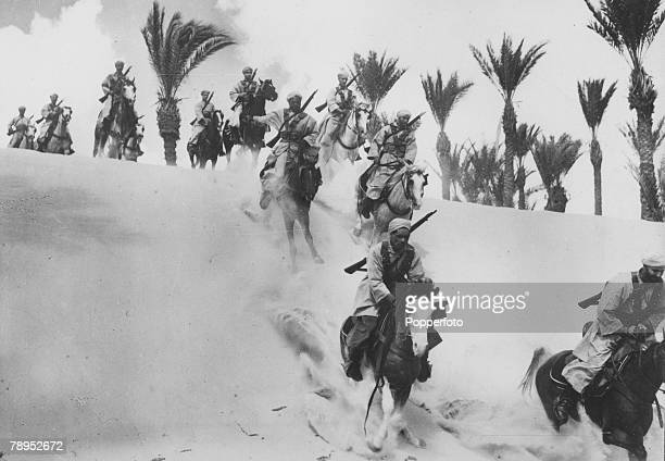 War and Conflict World War Two North Africa pic circa 1942 Spahis the famous desert bred cavalry of France fighting with the Free French forces...
