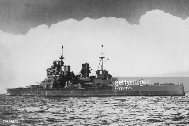 War and Conflict World War Two Pacific Sea War September 1940 The British battleship HMS'Prince of Wales' which was sunk by the Japanese on 10th...