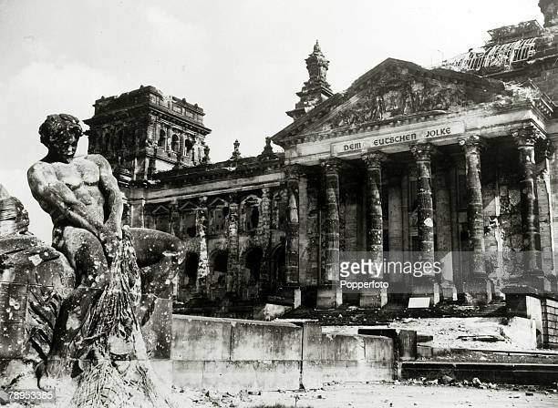 1945 The badly damaged Berlin Reichstag at the end of the war