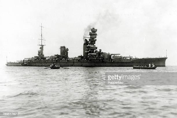 circa 1942 The Japanese battleship 'Yamashiro'