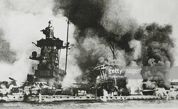 War and Conflict World War Two Sea War pic December 1939 The Admiral Graf Spee the German cruiser becomes a burning hulk and was lost when scuttled...