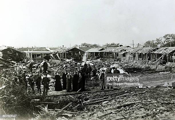 War and Conflict World War War I pic May 1918 Devastation at the StJohn's Ambulance Brigade hospital at Etaples France destroyed by German bombs in...