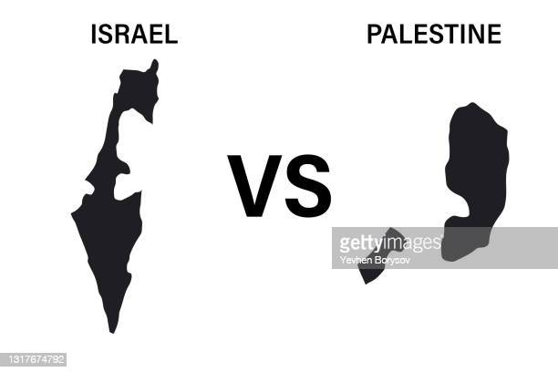 war between israel and palestine maps of israel and palestine - democracy stock pictures, royalty-free photos & images