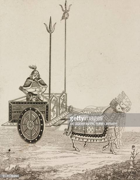 War Chariot of a General China engraving from Chine ou Description historique geographique et litteraire de ce vaste empire d'apres des documents...