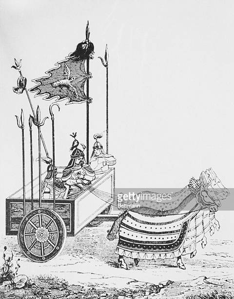 War chariot of the type utilized by Genghus Khan's Chinese opponents
