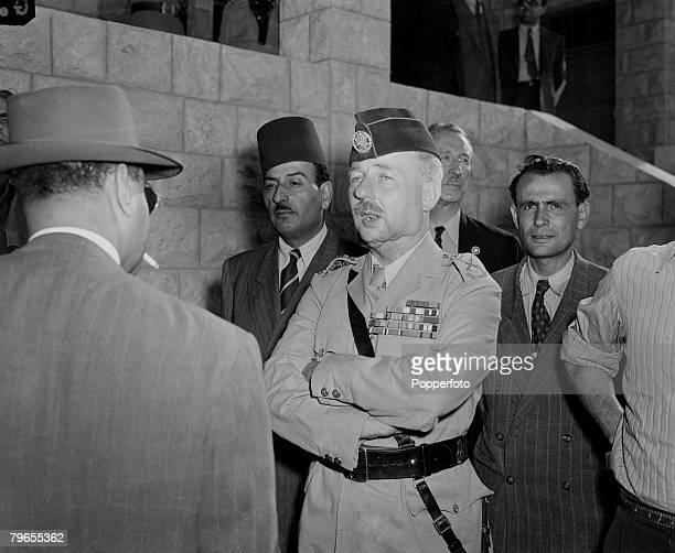 War Conflict Middle East Amman Jordan General Sir John Bagot Glubb commander of the Arab Legion