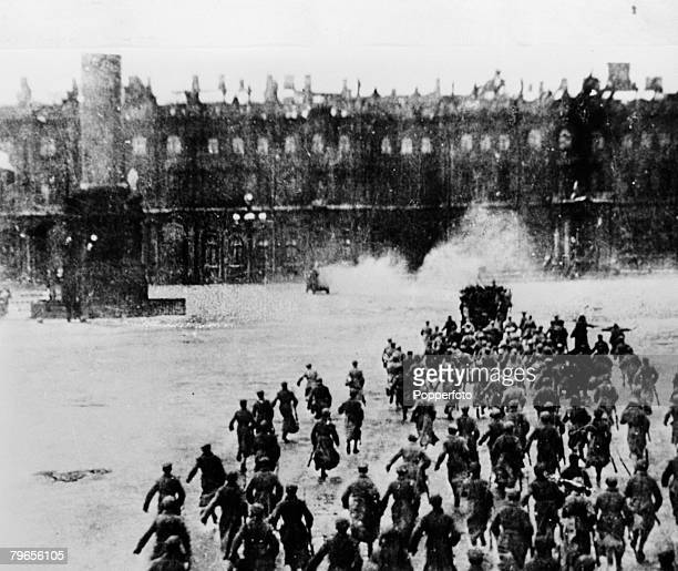 War Conflict Petrograd Russia Storming of the Winter Palace during the Russian Revolution