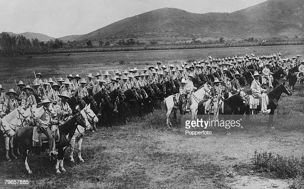War Conflict Revolution in Mexico Circa 1910's The Mexican Army A body of Federal Irregular Cavalry