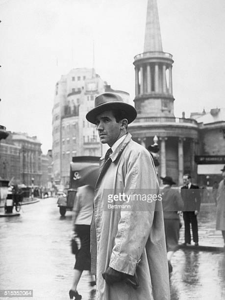 CBS war correspondent Edward R Murrow in London during World War II