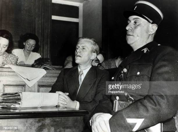 12th July 1949 Otto Abetz who was the Nazi Ambassaador to Paris during the Nazi occupation pictured at his trial during the opening hearing