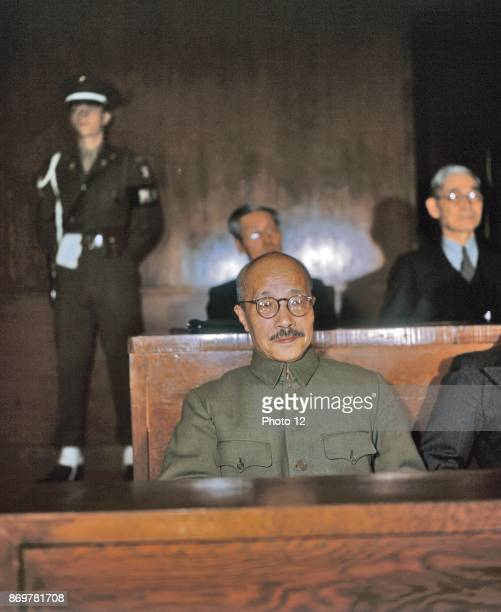 War Crimes Trial of Hideki Tojo general of the Imperial Japanese Army Prime Minister of Japan during much of World War II Tojo was arrested sentenced...