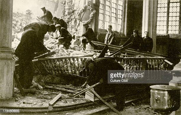 All Hallows by the Tower December 1940 the morning after a bomb fell on the East Wall All Hallows is the oldest Church in the City of London and the...