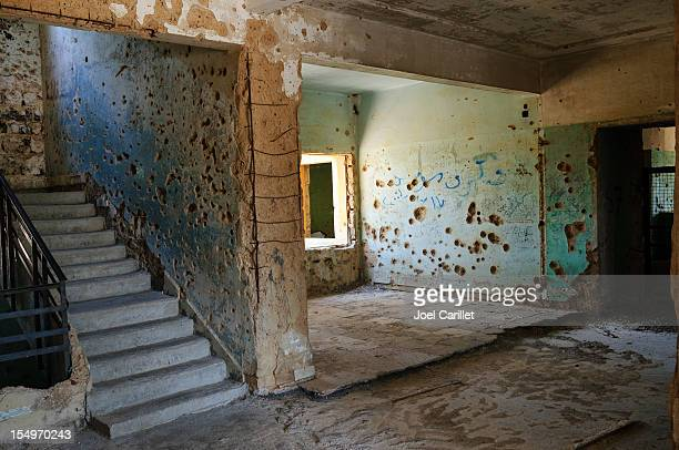 War damaged building in Quneitra, Syria