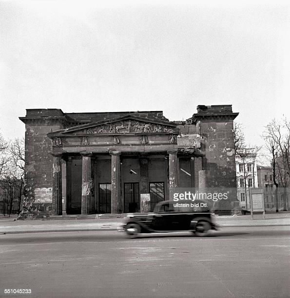 War destructions in Berlin Mitte The street Unter den Linden with the bombed the Neue Wache Photographer Ernst Hahn