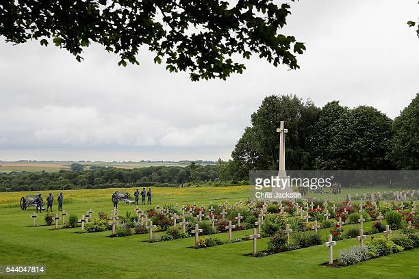 War graves at Thiepval Memorial to the Missing of the Somme during Somme Centenary Commemorations on July 1 2016 in Thiepval France Today marks...