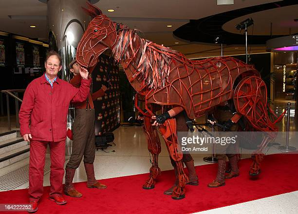 """War Horse author Michael Morpurgo attends """"War Horse"""" at the Lyric Theatre on March 21, 2013 in Sydney, Australia."""